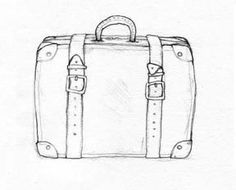 Suitcase by Chubby Broccoli  http://jacquelinehudon.blogspot.com.au/2008/04/sketches-for-aron-james-album.html#