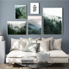 Landscape Walls, Landscape Prints, Mountain Landscape, Forest Landscape, Canvas Poster, Canvas Wall Art, Living Room Canvas Art, Canvas Frame, Canvas Prints