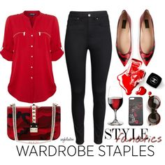"""""""Wardrobe Staple: Point-Toe Flat"""" by angkclaxton on Polyvore"""