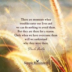 """""""Troubles enter our lives for a reason"""" by Paulo Coelho"""
