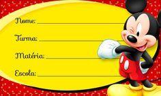 Etiqueta Escolar Personalizada Mickey Papel Sticker, School Labels, Mickey Y Minnie, Holiday Wallpaper, Name Labels, Party Printables, Clip Art, Names, Education