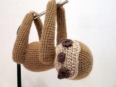Crochet PATTERN PDF Amigurumi Sloth crochet animal por MevvSan