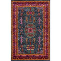 Simply stunning, our tribal-inspired Mina Moon Rug features intense, striking hues that make a bold statement in a bright and cheery space.