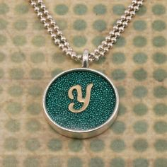 Micro beads/Glitter & Resin Pendant
