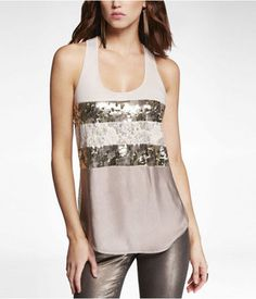 Sequin and Lace Tank
