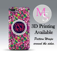 f850a7c1e62b1 Monogram iPhone Case. Lilly Pulitzer Inspired by MonogramStyles Iphone 5c