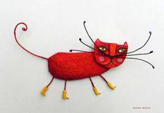 Juliana Bollini - cat brooch