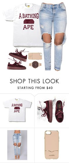 """ABATHING APE."" by cheerstostyle ❤ liked on Polyvore featuring A BATHING APE, Puma, Rebecca Minkoff and Olivia Burton"