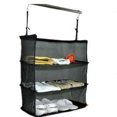 Hanging Closet Shelf Organizer for Clothing & Personal Items