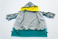Free sewing pattern: sew sweat jacket for children Snaply magazine - Nahen Sewing Patterns Free, Free Sewing, Sewing Ideas, Baby Time, Baby Sewing, Hoodies, Sweatshirts, Diy For Kids, Children