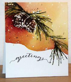 Brush pine de Penny Black - par Micheline 'Mimi' Jourdain                                                                                                                                                                                 More