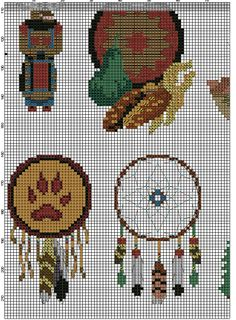 Free Cross Stitch Pattern Native Spirit 4 Bear Bison