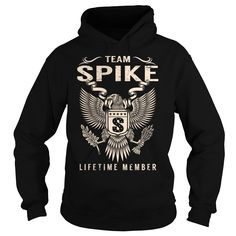 Team SPIKE Lifetime Member T-Shirts, Hoodies. CHECK PRICE ==► https://www.sunfrog.com/Names/Team-SPIKE-Lifetime-Member--Last-Name-Surname-T-Shirt-Black-Hoodie.html?id=41382