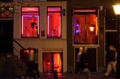 A street in the Red Light District.
