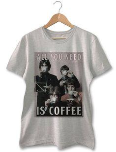 Camiseta Beatles Coffee Camisetas Masculinas 64b0d66d4c9