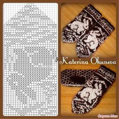 Knitting mittens pattern inspiration ideas for 2019 Knitting Charts, Knitting Stitches, Knitting Patterns Free, Free Knitting, Baby Knitting, Crochet Patterns, Crochet Mittens Pattern, Knit Mittens, Knitted Gloves