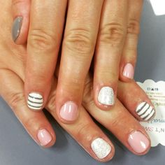 Stripes, glitter, AND pink? Can't go wrong! Designed at @SimpleSolitude in Vancouver, WA!