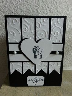 Wedding Card Templates Mozelle: SC272 White Wedding Card by ApricotRose - Cards and Paper Crafts at Splitcoaststampers