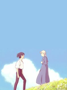 Uploaded by ♡ White. Find images and videos about gif, studio ghibli and howls moving castle on We Heart It - the app to get lost in what you love. Hayao Miyazaki, Howl's Moving Castle, Studio Ghibli Art, Studio Ghibli Movies, Howl And Sophie, Chihiro Y Haku, After Story, Totoro, Aesthetic Anime