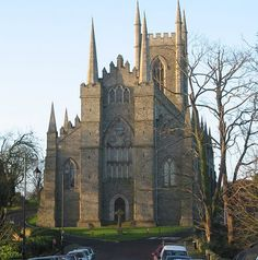 Down Cathedral in Downpatrick, Northern Ireland  Home of Saint Patrick