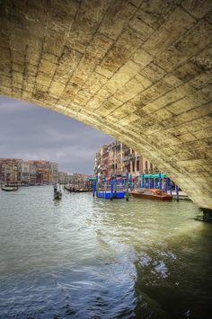 Under the Rialto Bridge - Venice, Italy