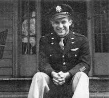 """Russell Allen Phillips at his mother's house at the end of WWII. On the back of the photo, someone wrote """"Home!"""""""
