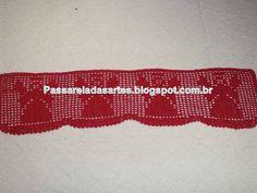 Artes na Passarela: Barrado de crochê com detalhes de anjos