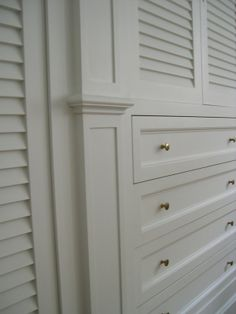 built-in closets and drawers