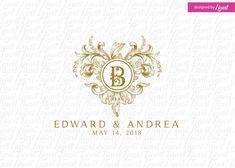 wedding logo - wedding monogram - wedding crest - custom wedding logo - custom wedding monogram - logo matrimonio - logo para matrimonio by Linvit on Etsy