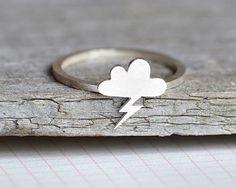 lightning cloud ring in sterling silver handmade in by huiyitan, £38.00