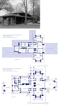 23 Darwin Martin House Floor Plan Darwin Martin House Floor Plan - Darwin D Martin House Darwin House Martin Frank Lloyd Wright s Drawings of the Darwin Martin House Darwin D Martin Ho. Luxury House Plans, Dream House Plans, House Floor Plans, Frank Loyd Wright Houses, Craftsman Bungalow House Plans, Usonian House, Prairie House, Vintage House Plans, Unique House Design