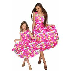Sweet Illusion Vizcaya Fit & Flare Midi Mommy and Me Dresses