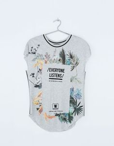 Bershka United Kingdom -Bershka message T-shirt