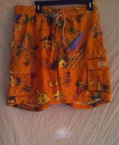 J Crew Swim Trunks Board Shorts Size 33 Hula Girl Hawaii Islands Print #JCrew #JCrewMen'sSwimTrunksSize33 #JCrewBoardShortsSize33