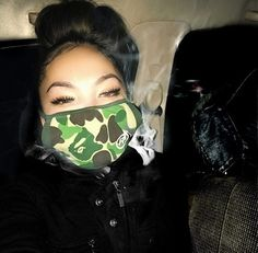 Bitches in Bape Mode Outfits, Swag Outfits, Baby Blanket Crochet, Crochet Baby, Fille Gangsta, Thug Girl, Soft Ghetto, Trap Queen, Gangster Girl