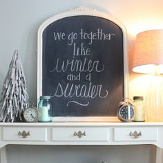 """""""We go together like winter and a sweater."""" A simply styled January console table."""
