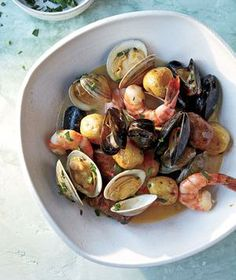 Sheet Pan Clambake with Clams, Shrimp, and Chorizo recipe