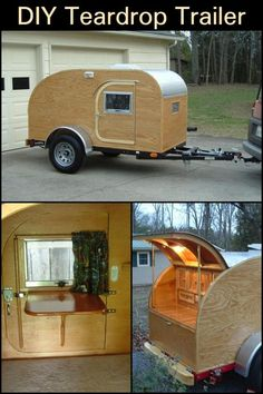 Diy Camper Trailer, Trailer Interior, Vintage Campers Trailers, Travel Trailers, Camper Interior, Vintage Motorhome, Build A Camper, Dump Trailers, Vintage Caravans