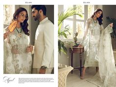 Elan Tresor Unstitched Collection 2019 By Khadijah Shah Designer Suits Online, Designer Dresses, Wedding Wear, Wedding Party Dresses, Bridal Outfits, Bridal Dresses, Pakistani Designer Clothes, Long Anarkali, Pakistani Outfits