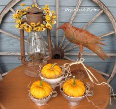 Rustic & Vintage Outdoor Fall Decor