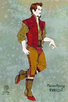 Something Rotten! is a musical comedy Renaissance Costume, Renaissance Men, Italian Renaissance, Elizabethan Costume, Elizabethan Era, Male Fashion, Fashion History, Fashion Art, Rendering Techniques