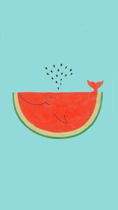 """""""A melancia é a baleia do verão."""""""