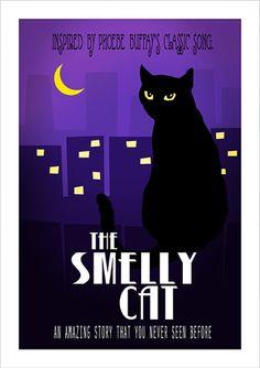 """Poster inspirado na música """"Smelly Cat"""" da personagem """"Phoebe Buffay"""" da série """"Friends"""" &n Serie Friends, Friends Tv Show, Just Friends, Pop Art Posters, Cat Posters, Phoebe Buffay, Poster Minimalista, Friends Tv Quotes, Oh Yeah Baby"""