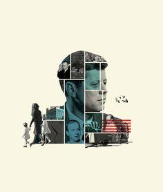 Cristiana Couceiro, The Kennedy assassination 50 years Later. Washington Post's illustration, 2013 Graphic Design Posters, Graphic Design Typography, Graphic Art, Graphisches Design, Cover Design, Collage Design, Collage Art, Layout Inspiration, Graphic Design Inspiration