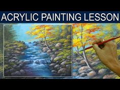 Acrylic Painting | Time-Lapse Version | Running Shallow River by JM Lisondra - YouTube