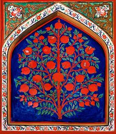 17th century depiction of the Tree of Life in Palace of Shaki Khans, Azerbaijan