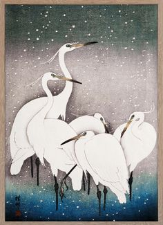 Group of Egrets – Paper Ministry