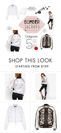 """Cool Jackets"" by ale-needam on Polyvore featuring adidas, TIBI, River Island and bomberjackets"