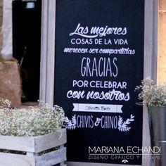 pizarra de bienvenida para fiesta en castellano - Buscar con Google