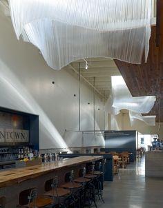 Glass sculpture by Nikolas Weinstein of Weinstein Studios - San Fransisco, Bar Agricole